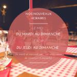 Horaires restaurant