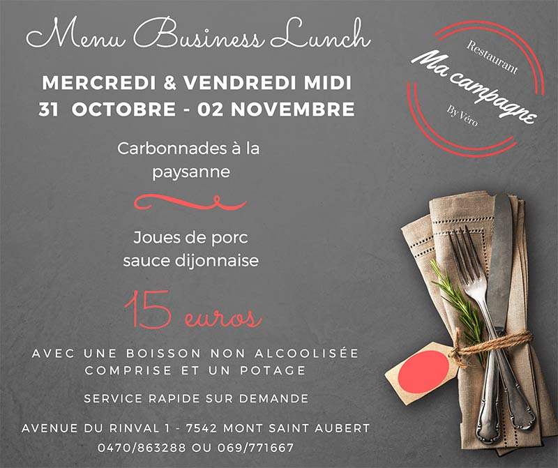 Business lunch tournai